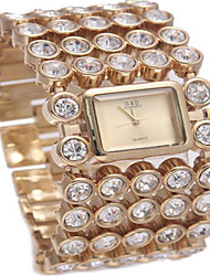 abordables -Mujer Reloj Pulsera Reloj de Moda Cuarzo Gran venta Aleación Banda Encanto Plata Dorado