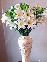 Недорогие -1 Филиал Полиэстер Лилии Букеты на стол Искусственные Цветы