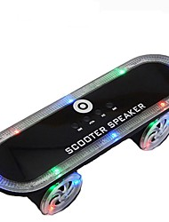 cheap -BT03 Skateboard Wireless bluetooth speaker Portable LED light Support FM Radio