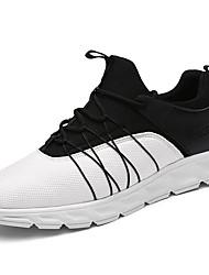 economico -Da uomo-scarpe da ginnastica-Casual-Comoda-Piatto-Sintetico-Nero Bianco/nero Schermo a colori