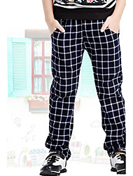 cheap -Boys' Daily Going out School Plaid Pants, Cotton Spring Summer Fall Blue