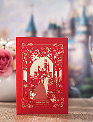 cheap -Side Fold Wedding Invitations 50-Bachelorette Party Cards Invitations Sets Save The Date Cards Envelope Envelope Sticker Program Fan