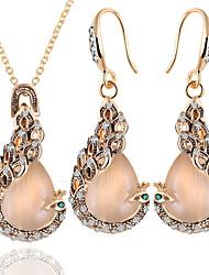 Schmuckset Halskette / Ohrringe Braut-Schmuck-Sets Kristall Strass Anhänger Stil Modisch Luxus-Schmuck Brautkleidung Elegant Strass Opal