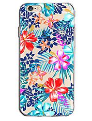 Para o iphone da maçã 7 7 mais 6s 6 mais a caixa tampa o teste padrão de flor pintou a penetração elevada material do tpu caixa macia do