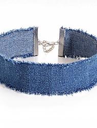 Недорогие -Жен. Ожерелья-бархатки - Уникальный дизайн Темно-синий, Светло-синий Ожерелье Бижутерия 1шт Назначение Для вечеринок, Повседневные, Офис и карьера