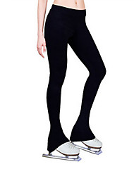 cheap -Figure Skating Pants Women's Ice Skating Black Velvet High Elasticity Activewear Skating Wear Thermal / Warm Skating