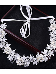 cheap -Crystal Imitation Pearl Headbands Headwear Head Chain Hair Tool with Floral 1pc Wedding Special Occasion Outdoor Headpiece