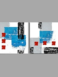cheap -Handmade Oil Painting Abstract Wall Art Home Decor Stretched Framed Ready To Hang SIZE 50*50cm*2