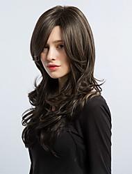 abordables -美元素 Mujer Pelucas sintéticas Largo Rizado Marrón Peluca natural Pelucas para Disfraz