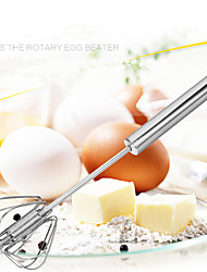 Stainless steel Semi-automatic Whisker Hand Pressure Rotary Whisk Household Kitchen Manual Egg Agitator