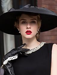 abordables -satén de lino sombreros headpiece wedding party elegante estilo femenino