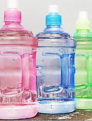 2pcs plástico transparente portátil beira de água garrafa de água 500ml