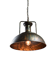 cheap -QSGD BT-09 Pendant Lamp Retro Iron Shape Hanging Light Loft Pendant Lamp Adjustable Cafe Light Fixture Chandelier