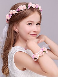 cheap -Foam Headbands Flowers Headwear Wreaths with Floral 1pc Wedding Special Occasion Casual Outdoor Headpiece