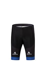 Bermudas Acolchoadas Para Ciclismo Moto Meia-calça Shorts Shorts Acolchoados Homens Compressão Tapete 3D Redutor de Suor Poliéster