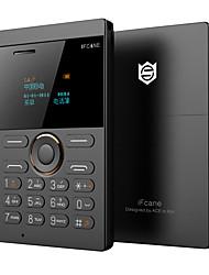 Fcane e1 mini teléfono teléfono tarjeta ultra delgado llevó pantalla qwerty gsm tarjeta de teléfono