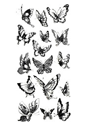 Недорогие -1 pcs Временные татуировки Водонепроницаемый руки / плечо / запястье Бумага Временные тату