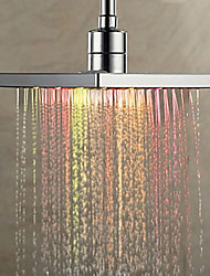 cheap -Contemporary Rain Shower Chrome Feature-Rainfall Eco-friendly LED , Shower Head