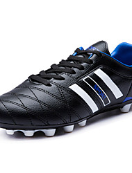 Soccer Shoes Men's Athletic Shoes Spring Fall Comfort Fabric Athletic Flat Heel Lace-up Blue Green Orange Black
