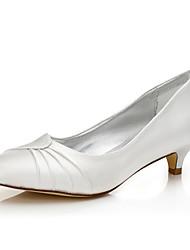 Недорогие --Для женщин-Свадьба Для прогулок Для офиса Для праздника Для вечеринки / ужина-Шёлк-На низком каблуке-Удобная обувь Dyeable обувь-