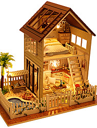 cheap -Music Box Dollhouse Wood DIY Castle in the Sky Men's Girls' Unisex Gift