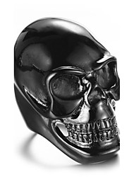 cheap -Men's Skull Ring / Statement Ring - Personalized / Euramerican / Hip-Hop Gold / White / Black Ring For Christmas Gifts / Party / Special