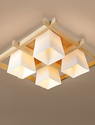 Flush Mount ,  Modern/Contemporary Others Feature for LED Wood/Bamboo Living Room Bedroom Dining Room Kitchen Study Room/Office