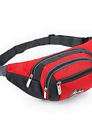 Men Bags All Seasons Nylon Waist Bag for Casual Sports Outdoor Red LightBlue Purple Clover Rose Red
