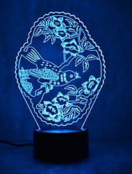 Noël motif tortues touch dimissant 3d led nuit lumière 7colorful décoration atmosphère lampe nouveauté éclairage lumière noël