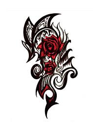 abordables -Tatuajes Adhesivos Series de Tótem Non Toxic WaterproofMujer Hombre Juventud flash de tatuaje Los tatuajes temporales