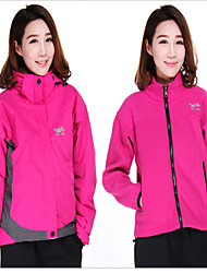 Women's 3-in-1 Jackets Waterproof Thermal / Warm Windproof Fleece Lining Rain-Proof Wearable Breathable Comfortable Protective Snowproof