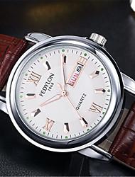 Недорогие -Муж. Модные часы Кварцевый Формальный Классический Кожа Коричневый 30 m / Аналоговый На каждый день - Белый Черный Синий