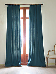 cheap -Rod Pocket Grommet Top Tab Top Double Pleat Two Panels Curtain Rococo Baroque European Designer Country Modern Neoclassical Mediterranean