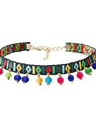 cheap -Women's Round Tassel Bohemian Euramerican Choker Necklace Fabric Choker Necklace , Party
