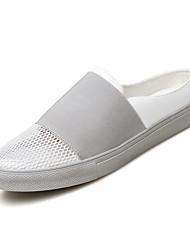 abordables -Homme Chaussures Polyuréthane Tulle Eté Automne Confort Sandales Combinaison pour Décontracté Bureau et carrière De plein air Blanc Noir