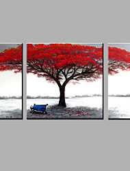 Hand-Painted Abstract Modern Three Panels Canvas Oil Painting  For Home Decoration