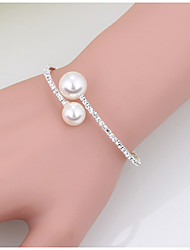 cheap -Women's Imitation Pearl Pearl Cuff Bracelet Tennis Bracelet - Fashion Circle Gold White Bracelet For Christmas Gifts Wedding Party