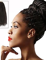 Box Braids Twist Braids Medium Brown Hair Braids 24Inch Kanekalon 90g Synthetic Hair Extensions