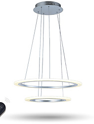 cheap -Dimmable LED Ring Acrylic Pendant Lights Ceiling Chandeliers Lamp Lighting Fixtures with Remote Control