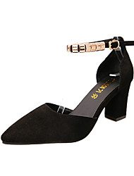 economico -Da donna Sandali Club Shoes PU (Poliuretano) Primavera Estate Casual Formale Serata e festa Club Shoes Fibbia Basso Nero Verde Rosa7,5 -