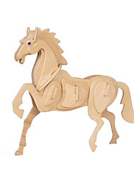 abordables -Puzzles 3D Modelo de madera Juguetes Caballo Madera Unisex Piezas