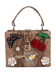 Donna Sacchetti Per tutte le stagioni PU (Poliuretano) Tote con Perle Perle di imitazione Floreale per Serata/evento Casual Formale Cachi