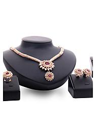 Women's Jewelry Set Rhinestone Fashion Vintage Personalized Euramerican Statement Jewelry Synthetic Gemstones Rhinestone Alloy Drop