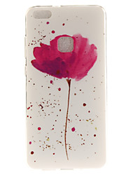 cheap -For Huawei P8 Lite (2017) P10 Case Cover A Flower Pattern HD Painted TPU Material IMD Process Phone Case P10 Lite Honor 6X Y5 II Y6 II