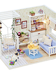 cheap -Dollhouse Toys Square Wood Pieces Unisex Gift
