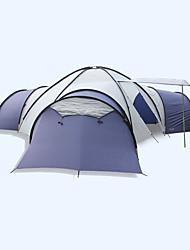 Недорогие -FLYTOP 8 человек Семейный кемпинг-палатка На открытом воздухе Водонепроницаемость С защитой от ветра Ультрафиолетовая устойчивость Двухслойные зонты Палатка Четырехкомнатная >3000 mm для