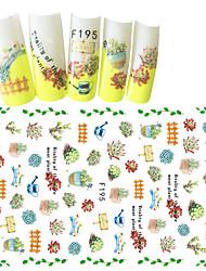 1pcs Fashion Fresh Style Design Warmth Garden Decoration Nail Art 3D Stickers F195