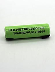 Недорогие -1pcs ni-mh аккумулятор 1.2v aa2800mah аккумуляторная батарея высокого качества