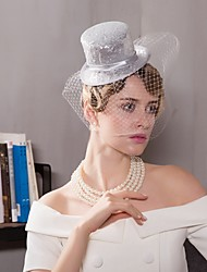 Tulle Flax Fascinators Hats Birdcage Veils Headpiece Elegant Style