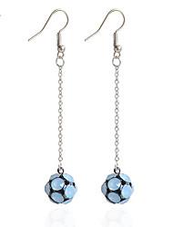 cheap -Drop Earrings Earrings Set Earrings Imitation Diamond Basic Cute Style Handmade Fashion Simple Style DIY Rhinestone Alloy Line Ball